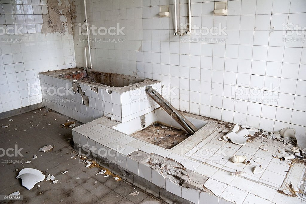 old leave bathroom royalty-free stock photo