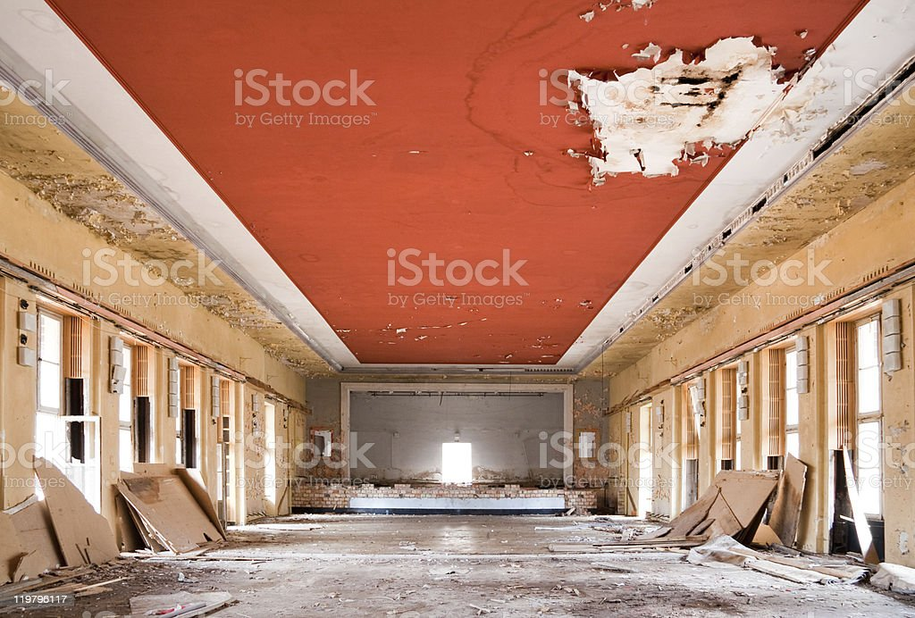 old leave deserted room stock photo