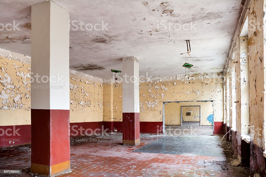 old leave dining hall stock photo