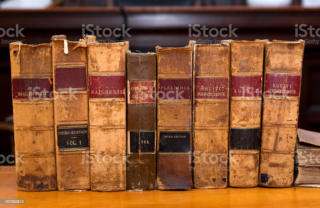 Old Legal Books stock photo