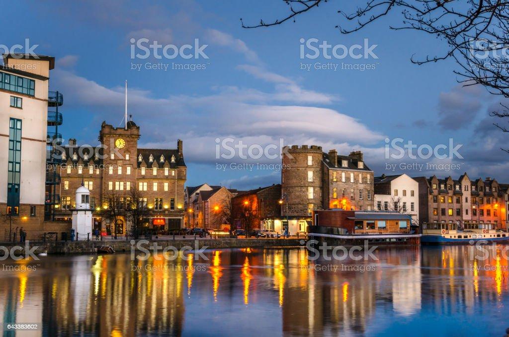 Old Leith Docks in Edinburgh, Scotland stock photo