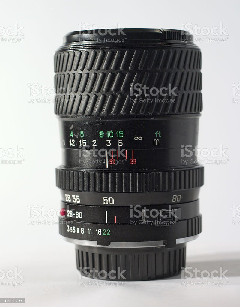 old lens side view royalty-free stock photo