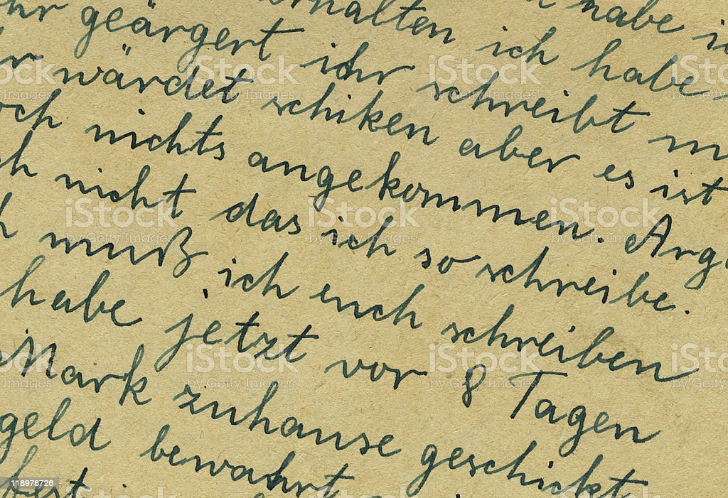 old letter detail stock photo