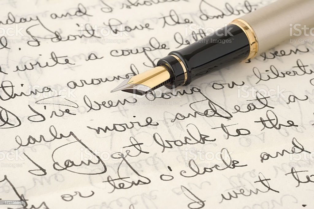 Old Letter & Pen royalty-free stock photo