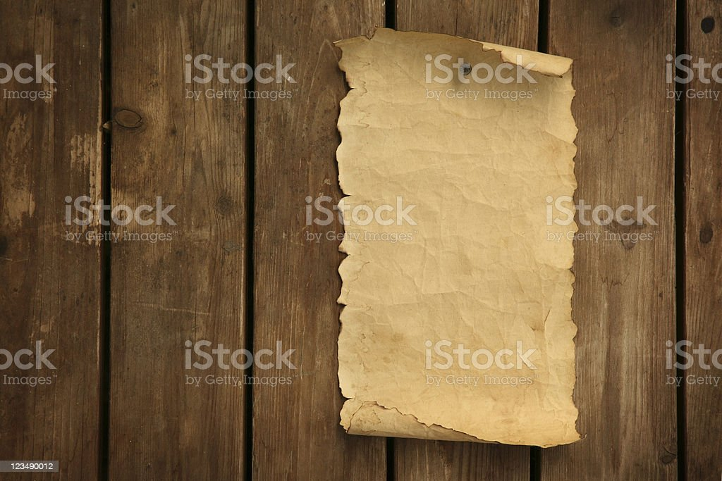 Old Letter Posted to the Door royalty-free stock photo