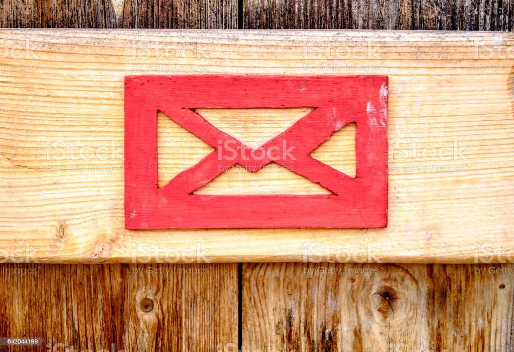 old letterbox stock photo