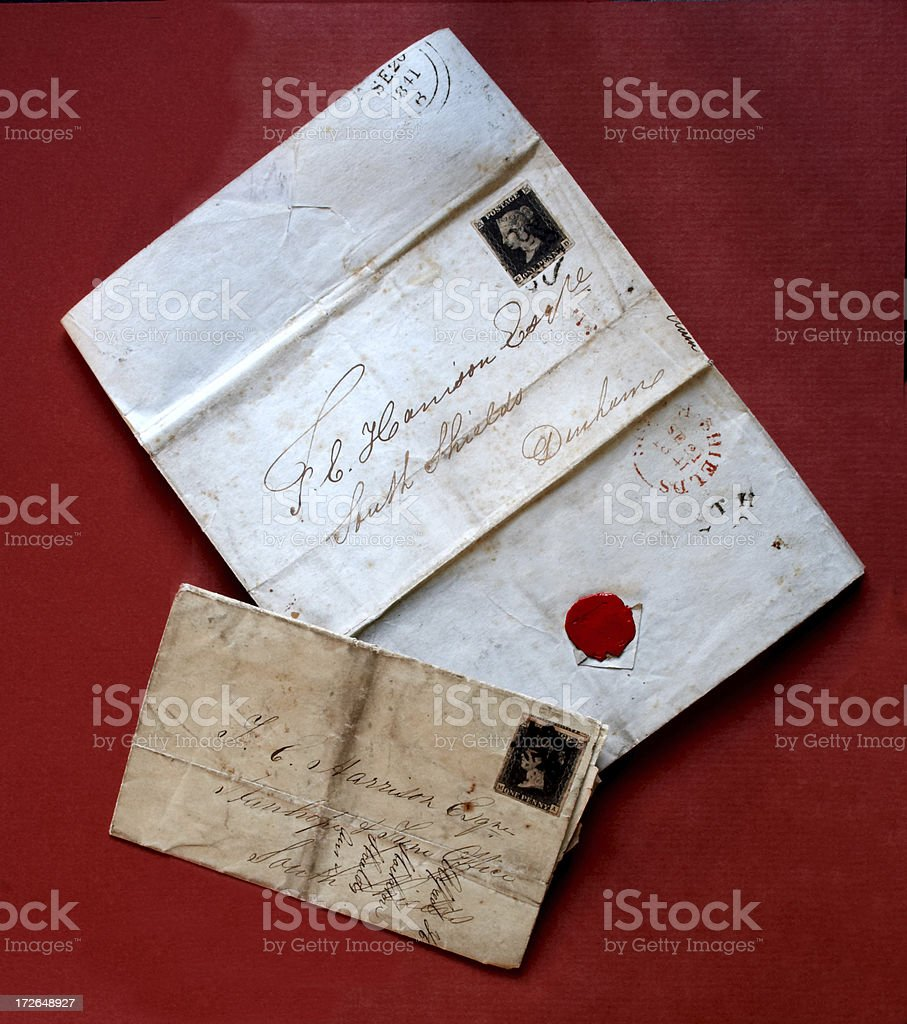 Old letters stock photo