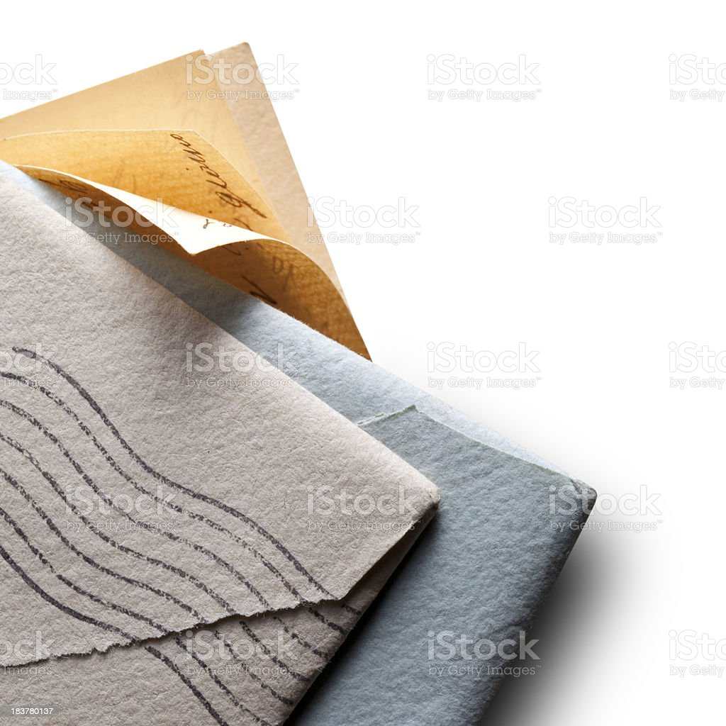 Old letters with envelopes. royalty-free stock photo