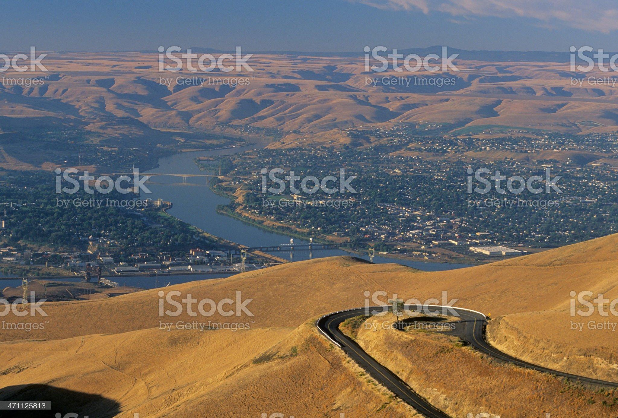 Old Lewiston Grade in Idaho royalty-free stock photo