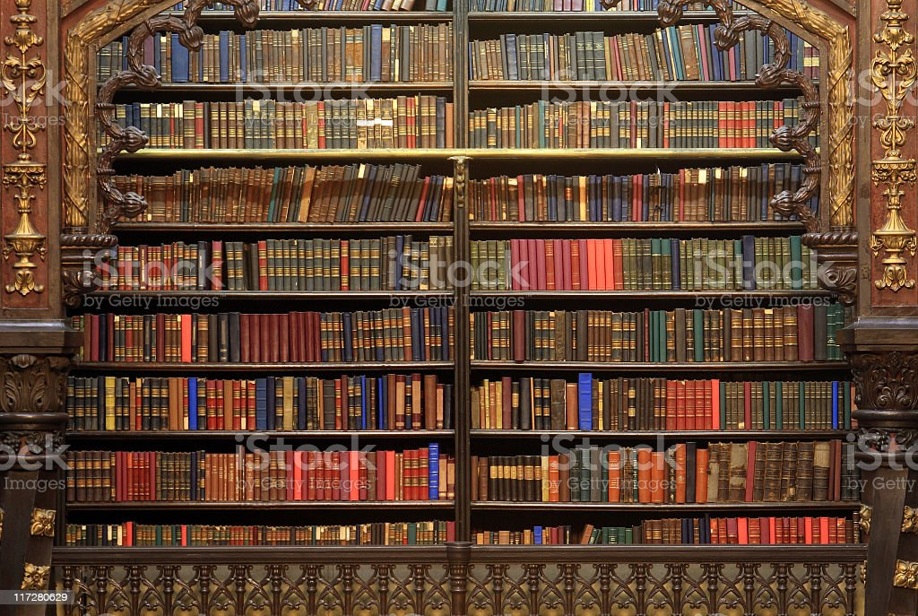Old library royalty-free stock photo
