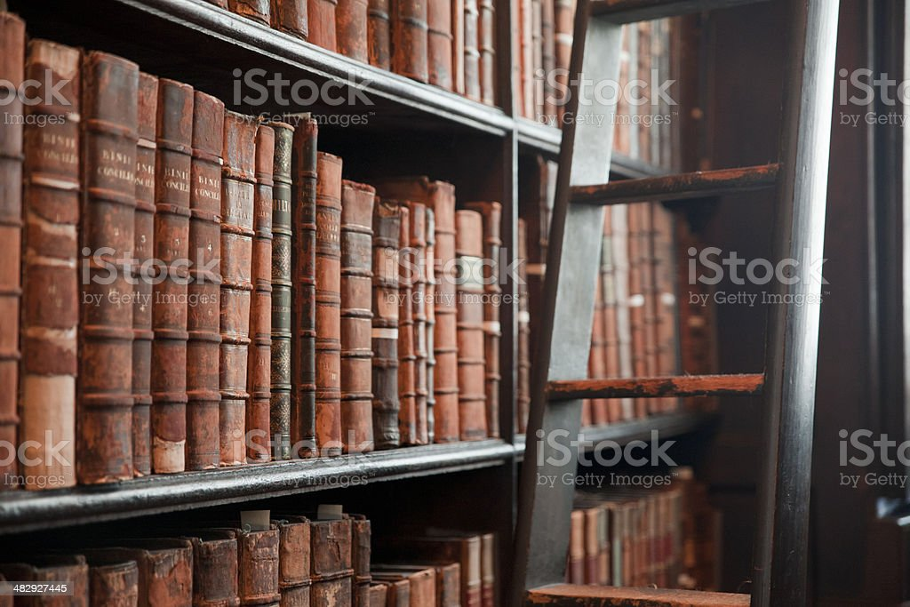 An old library full of old and rare texts