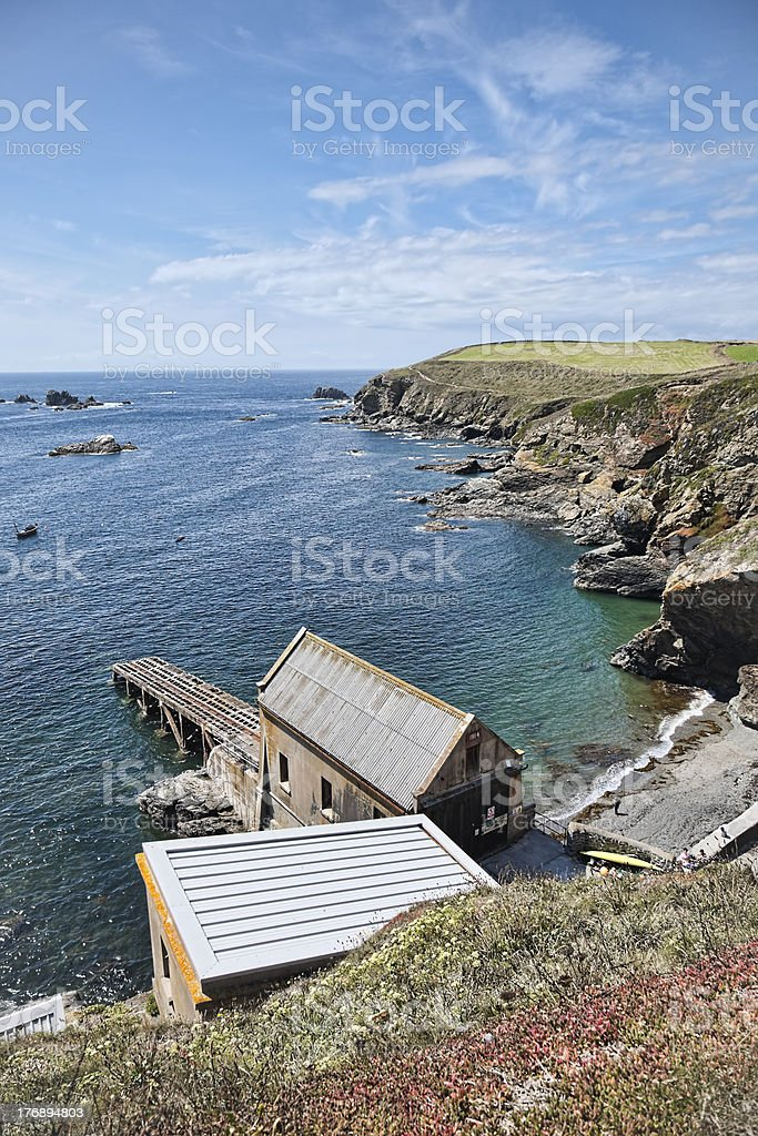 Old Lifeboat station stock photo