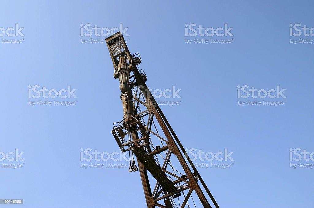 Old lifting crane royalty-free stock photo