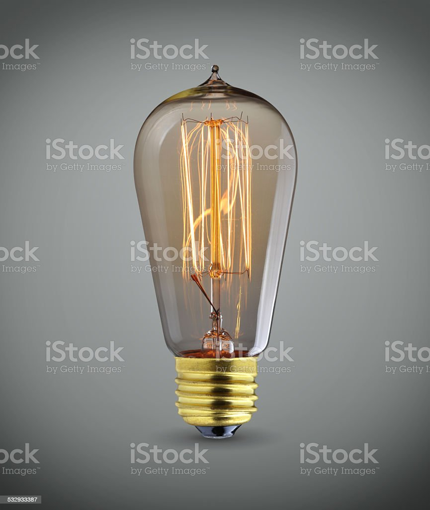 Old light bulb stock photo