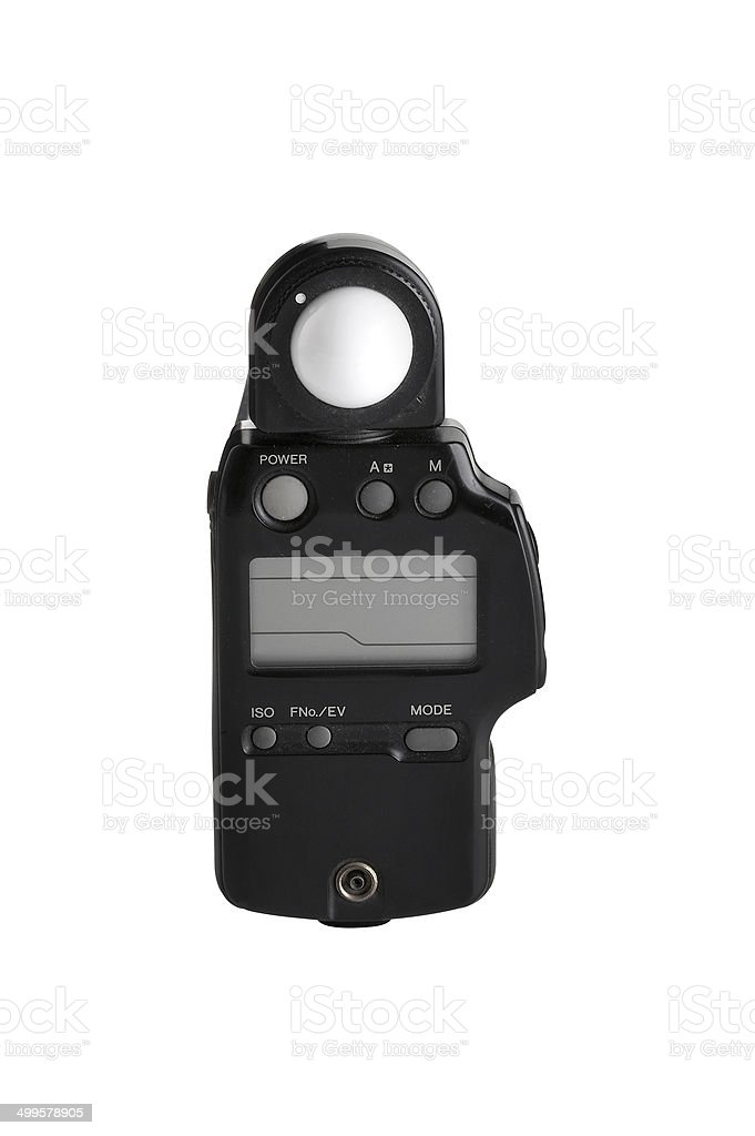 old light meter stock photo