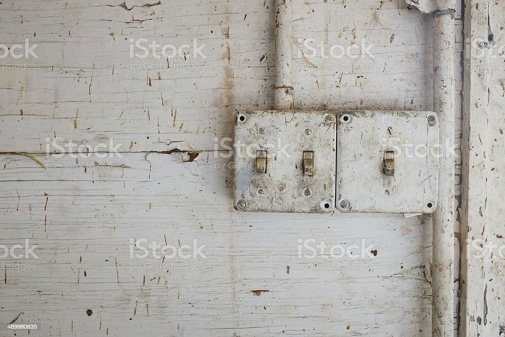 Old Light Switches stock photo