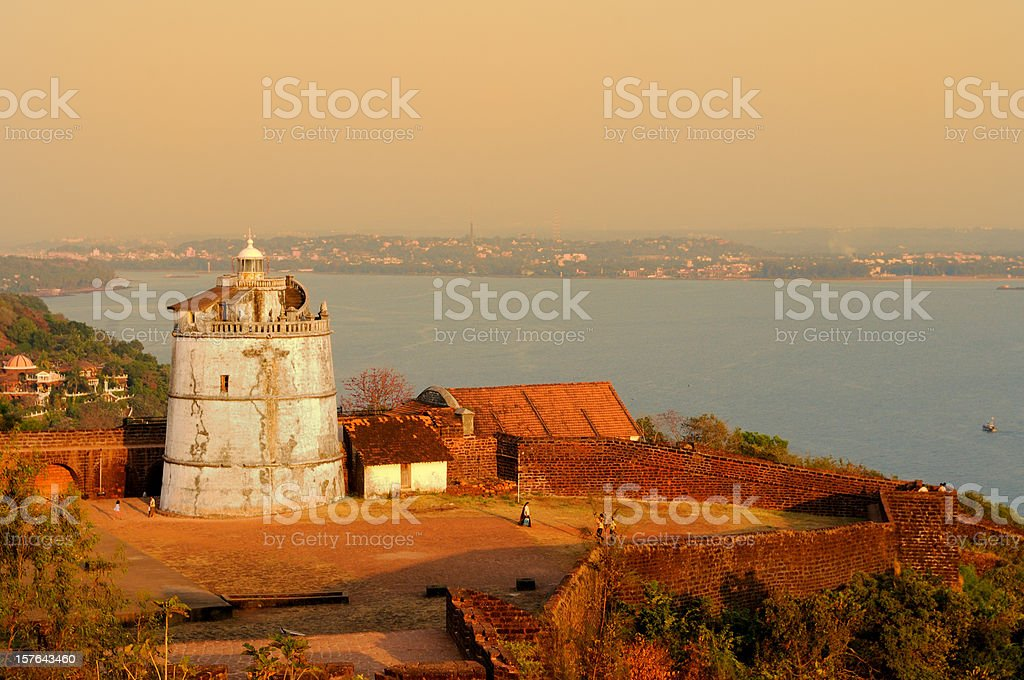 Old Lighthouse, Goa stock photo