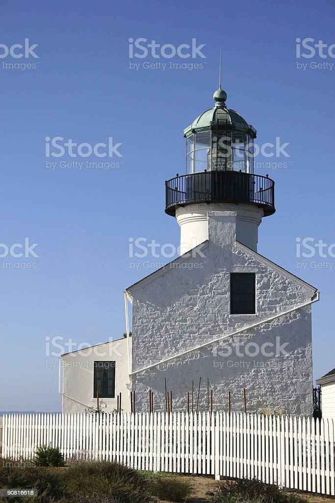 Old Lighthouse Side royalty-free stock photo