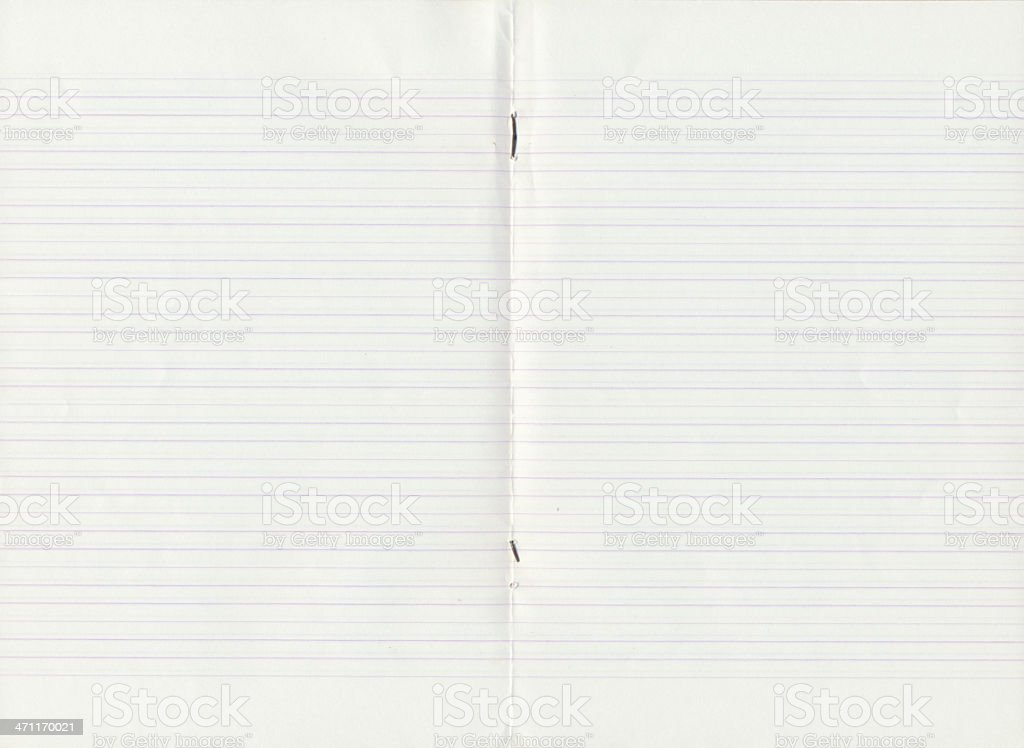 Old lined notebook royalty-free stock photo