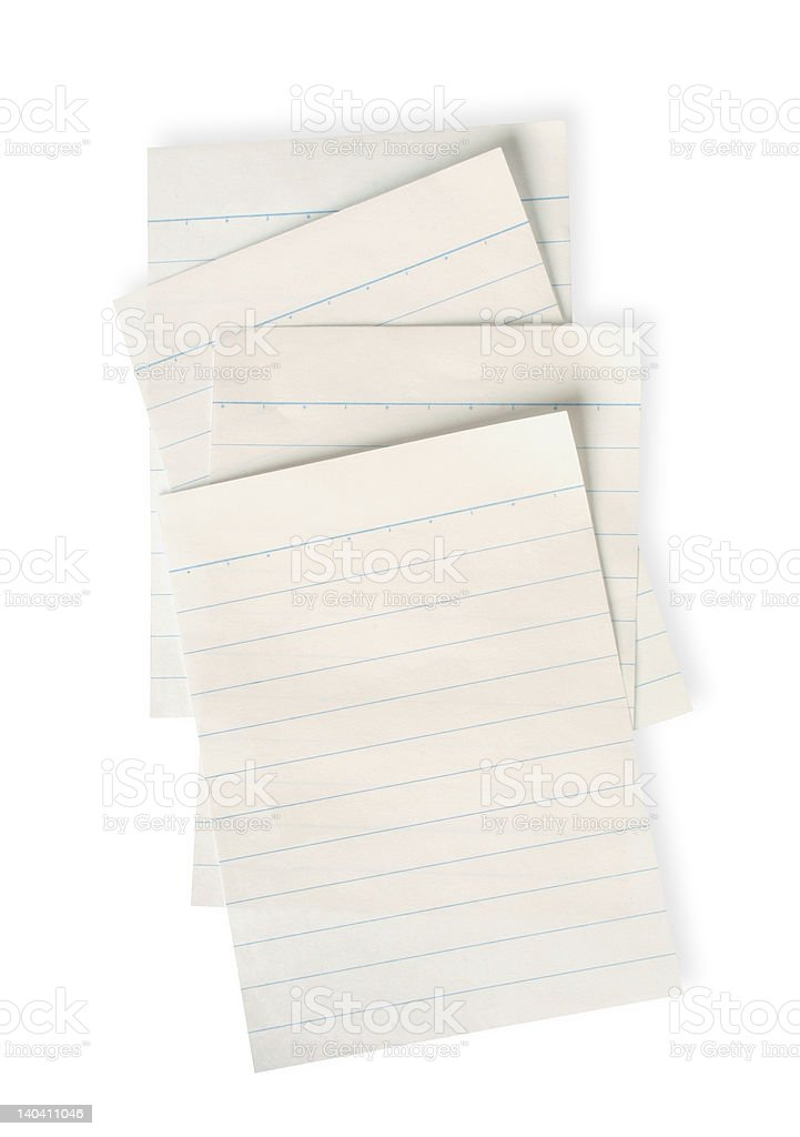 old lined paper with clipping path royalty-free stock photo