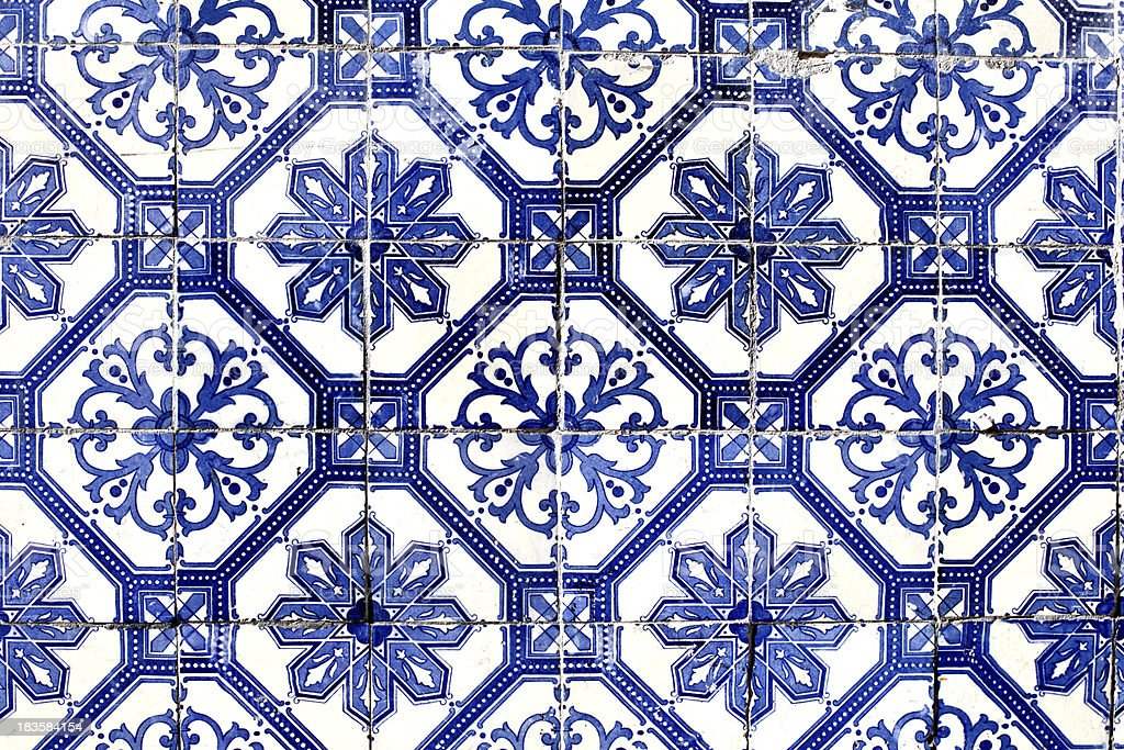 old Lisbon tiles , azulejos stock photo