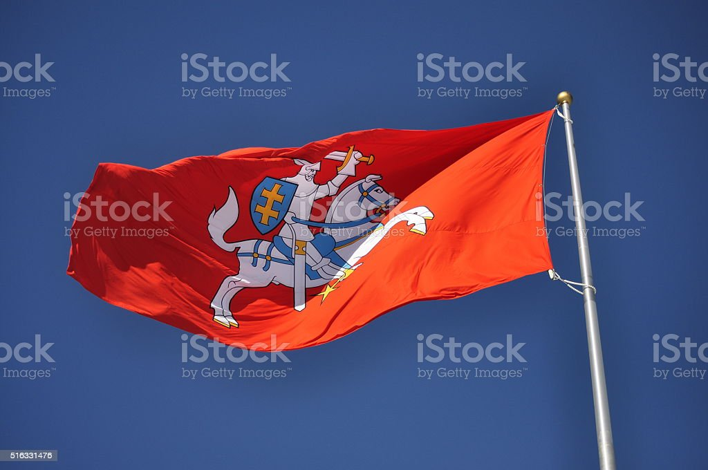 Old Lithuania flag stock photo