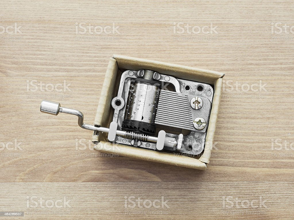Old little music box stock photo