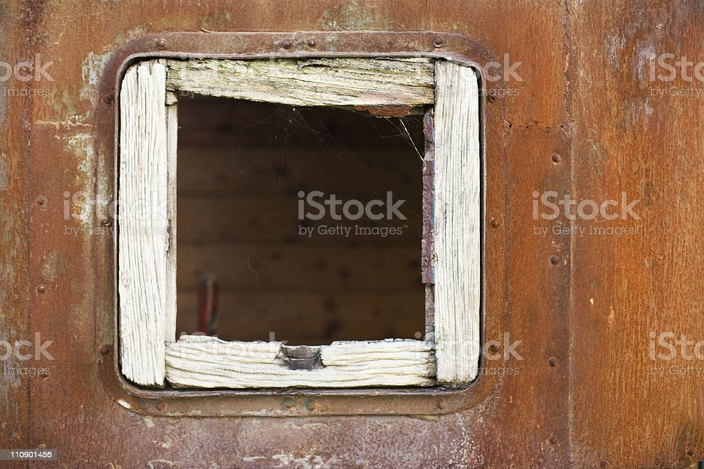 Old little square window royalty-free stock photo