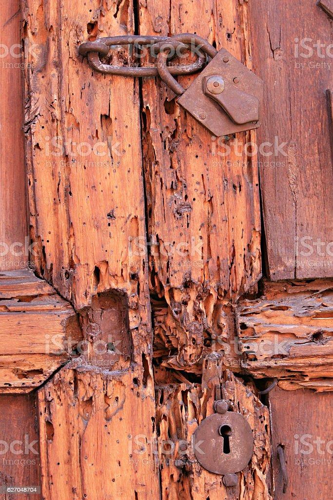 Old Lock and Door stock photo