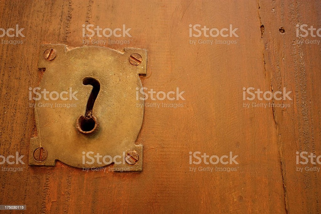 Old lock and question. royalty-free stock photo