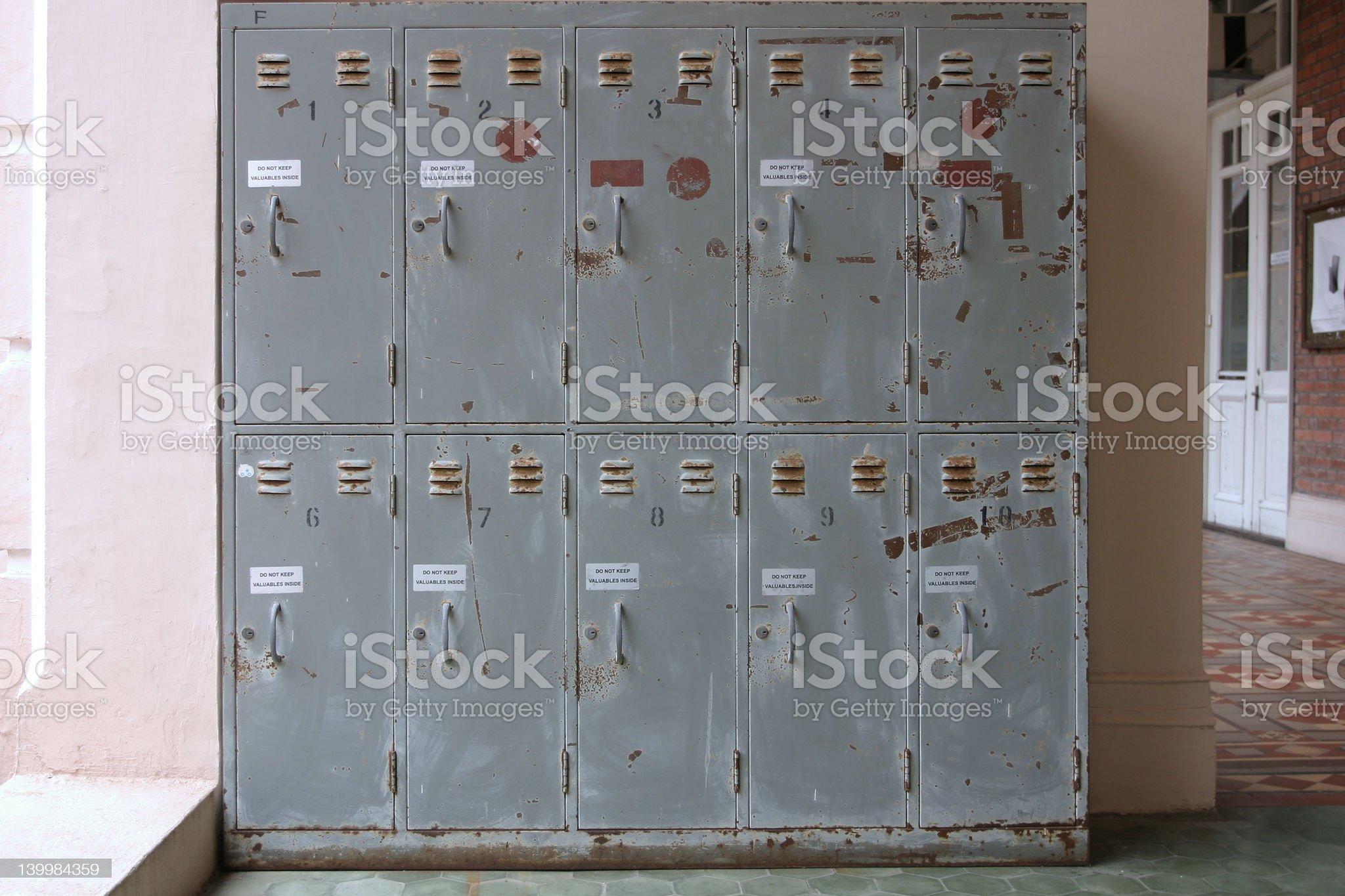 Old Lockers royalty-free stock photo