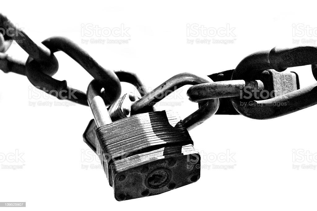 old locks in high-key stock photo