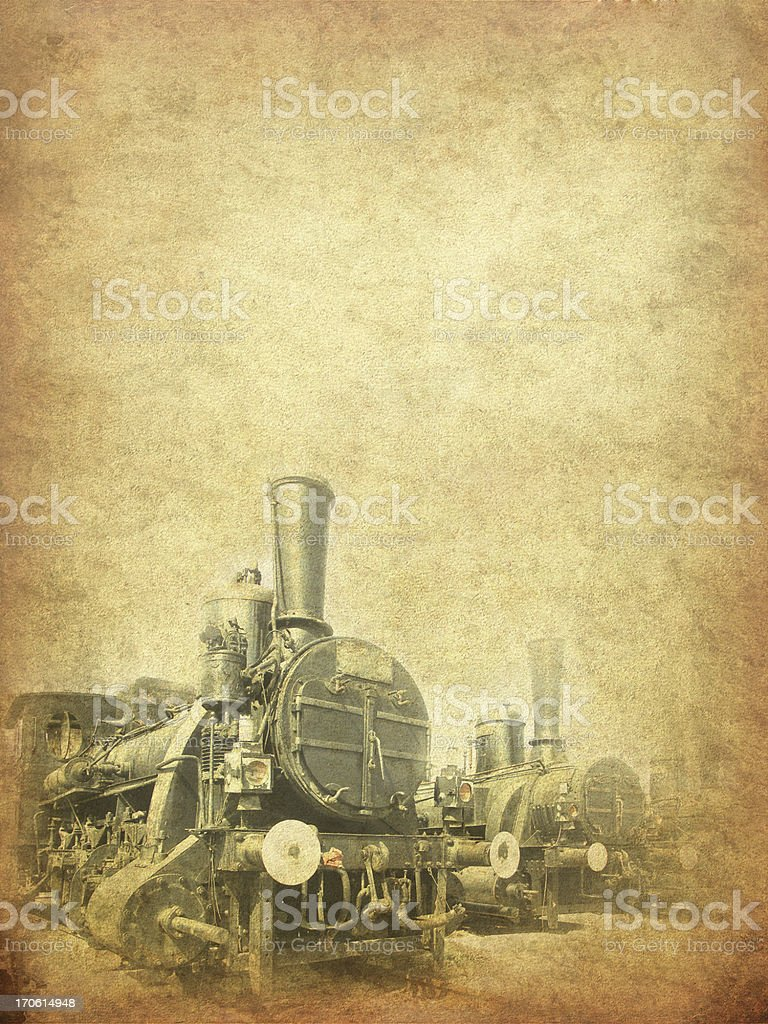 old locomotive royalty-free stock photo