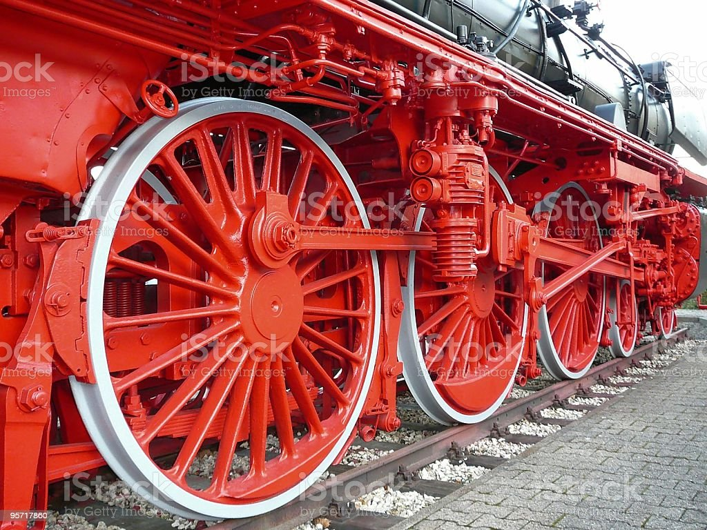 Alte Lokomotive stock photo