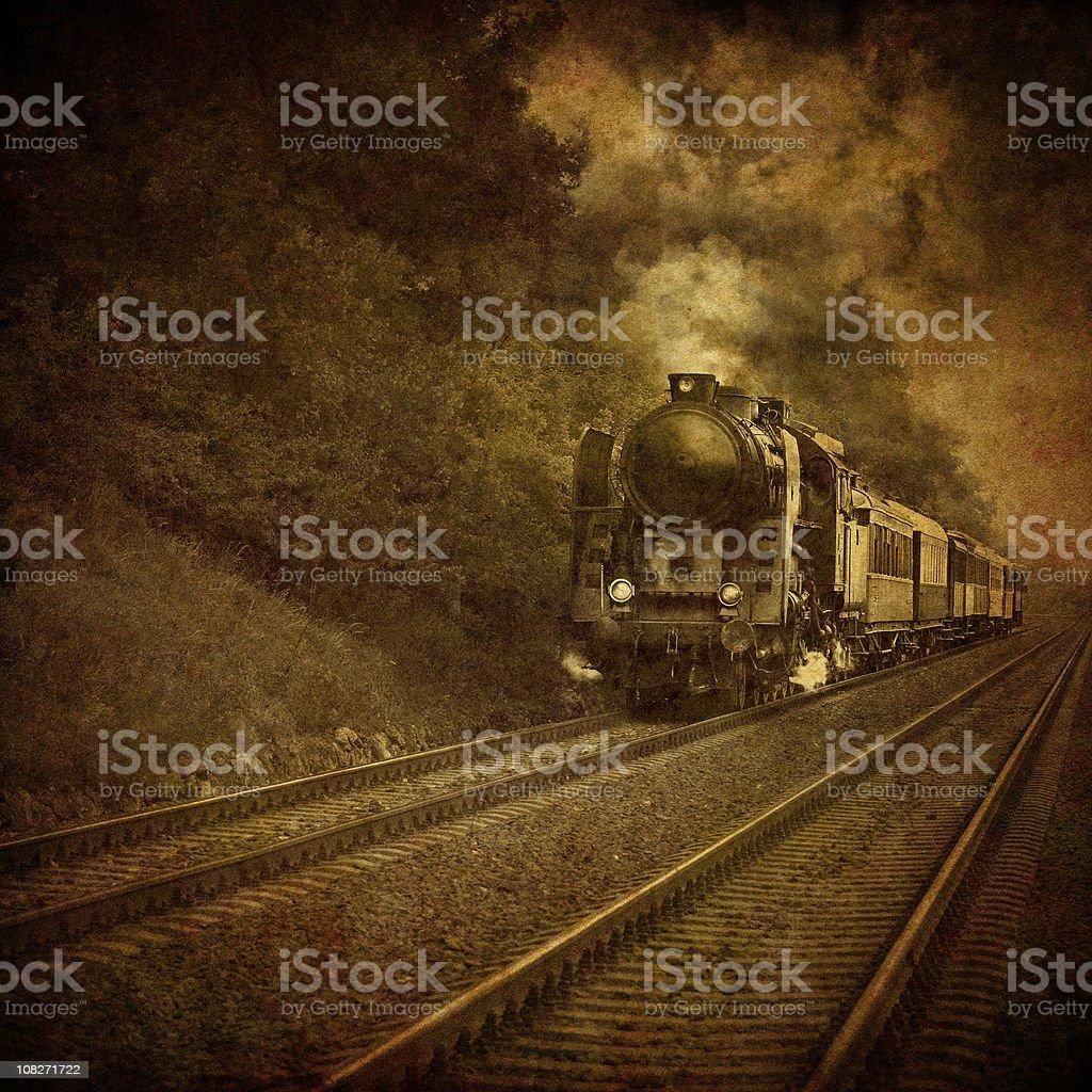 old locomotive - vintage photo royalty-free stock photo
