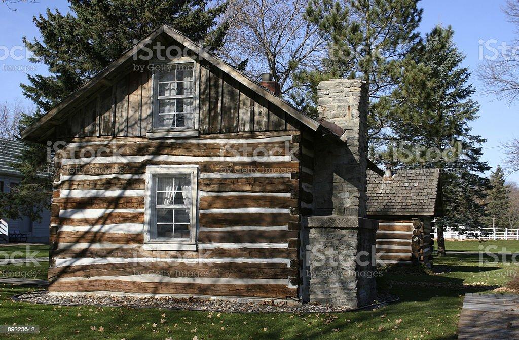 Old Log Cabin stock photo