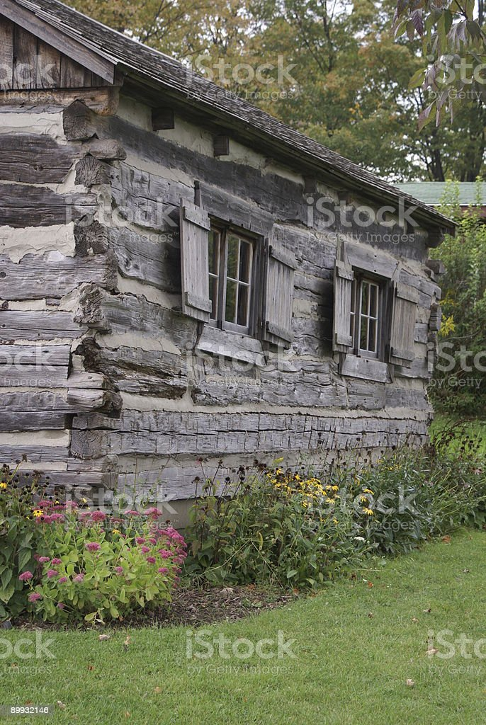 Old Log Cabin Schoolhouse royalty-free stock photo