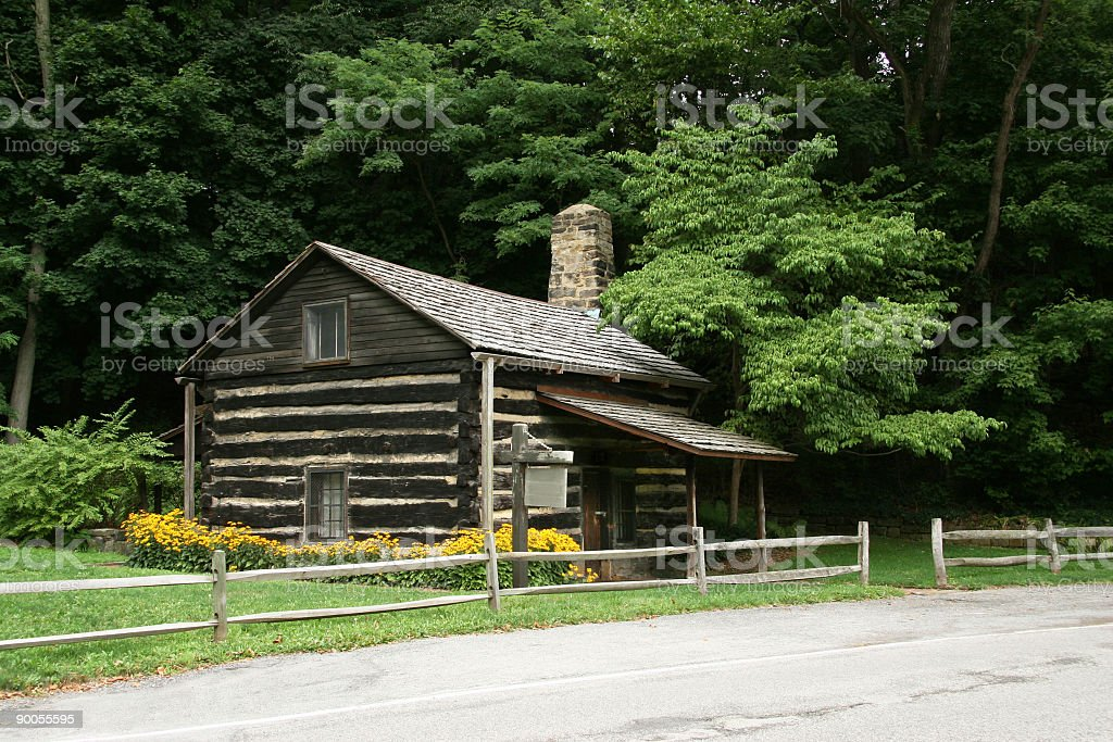Old Log Cabin - Youngstown, Ohio stock photo