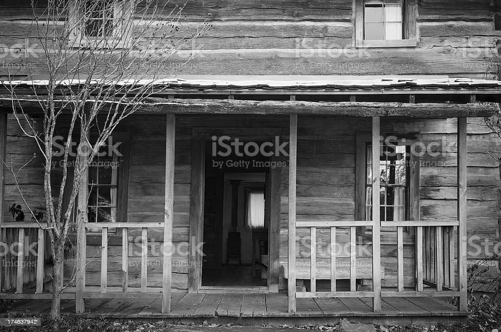 Old Log House royalty-free stock photo