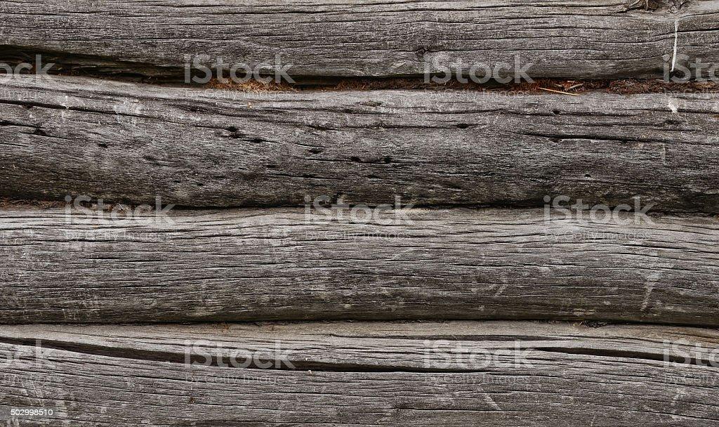 Old log wall stock photo