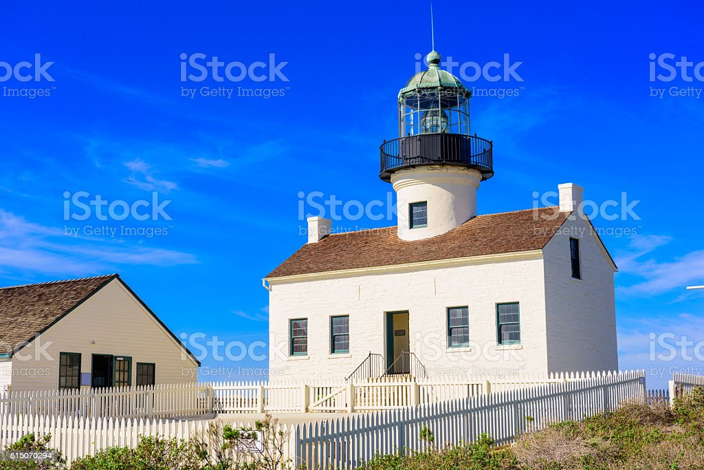 Old Loma Point Lighthouse stock photo
