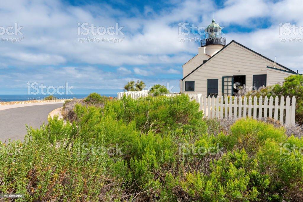 Old Loma Point Lighthouse, San Diego stock photo