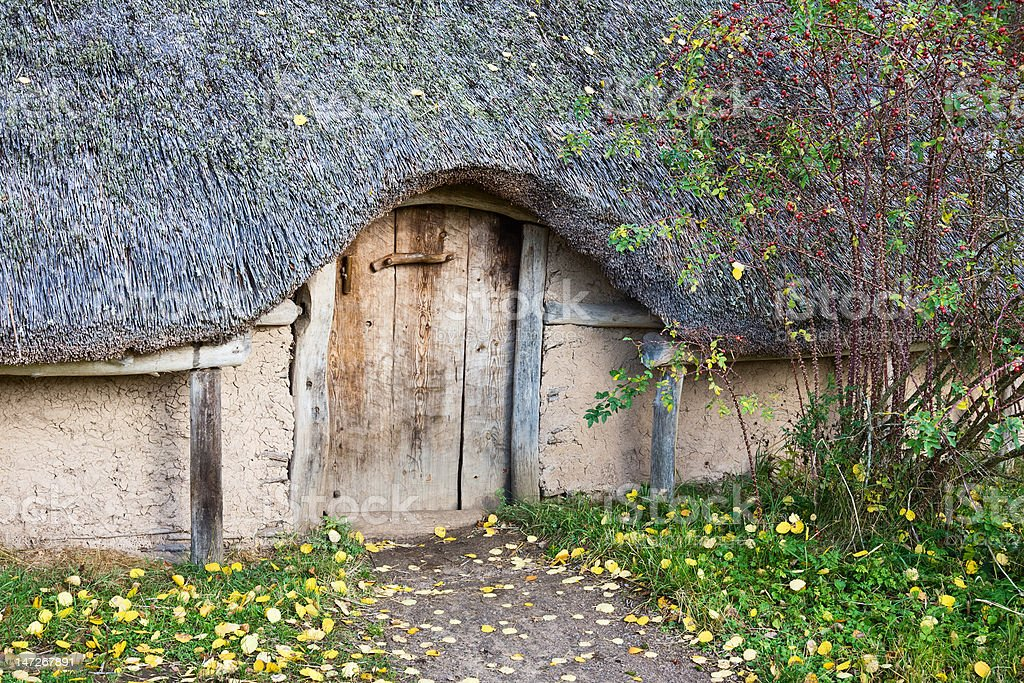 Old longhouse royalty-free stock photo