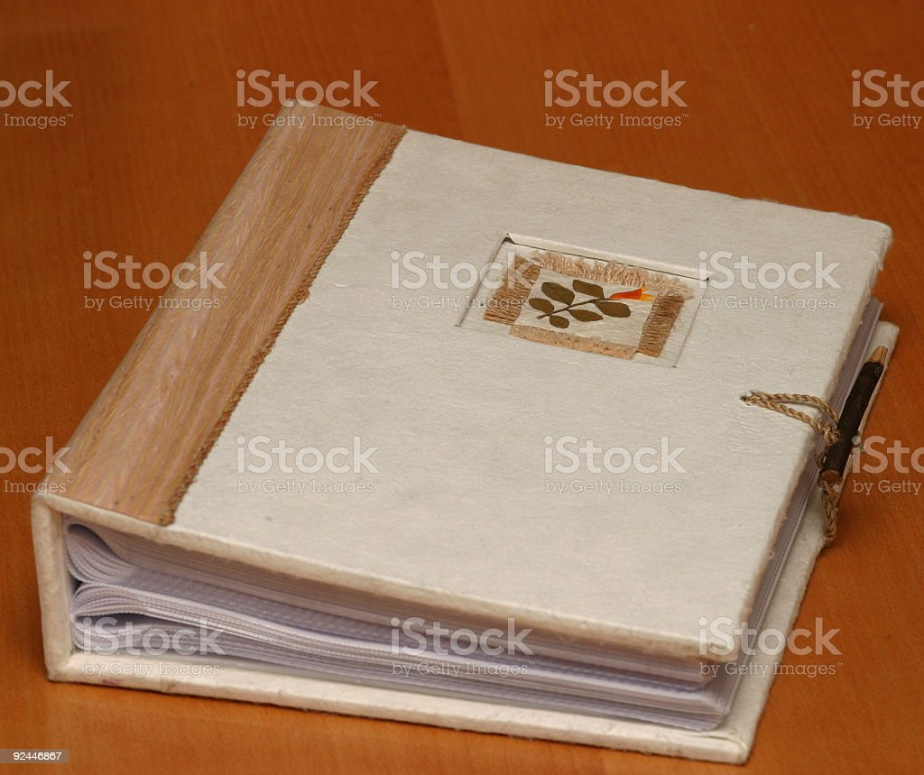 Old looking photo album royalty-free stock photo