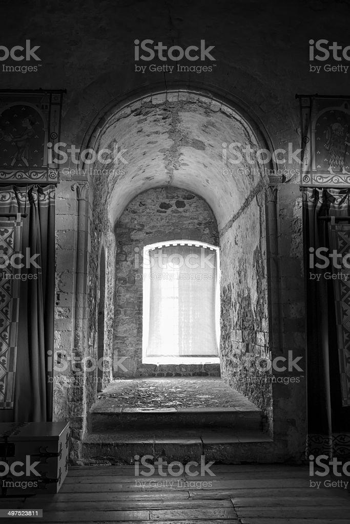 Old looking  window stock photo