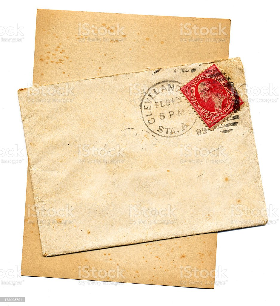 Old Love Letter royalty-free stock photo