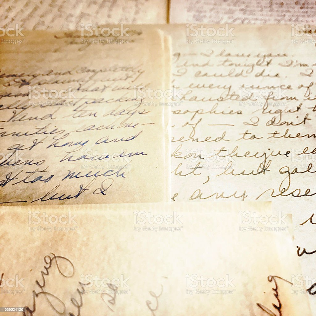 Old Love Letters stock photo