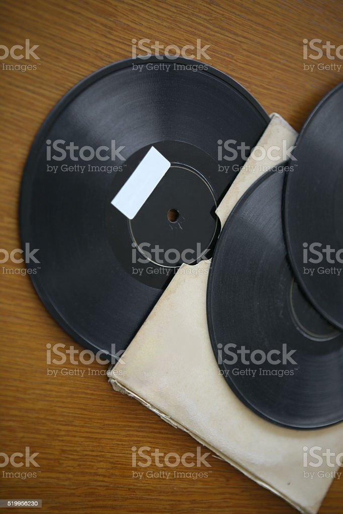 Old LP Records stock photo