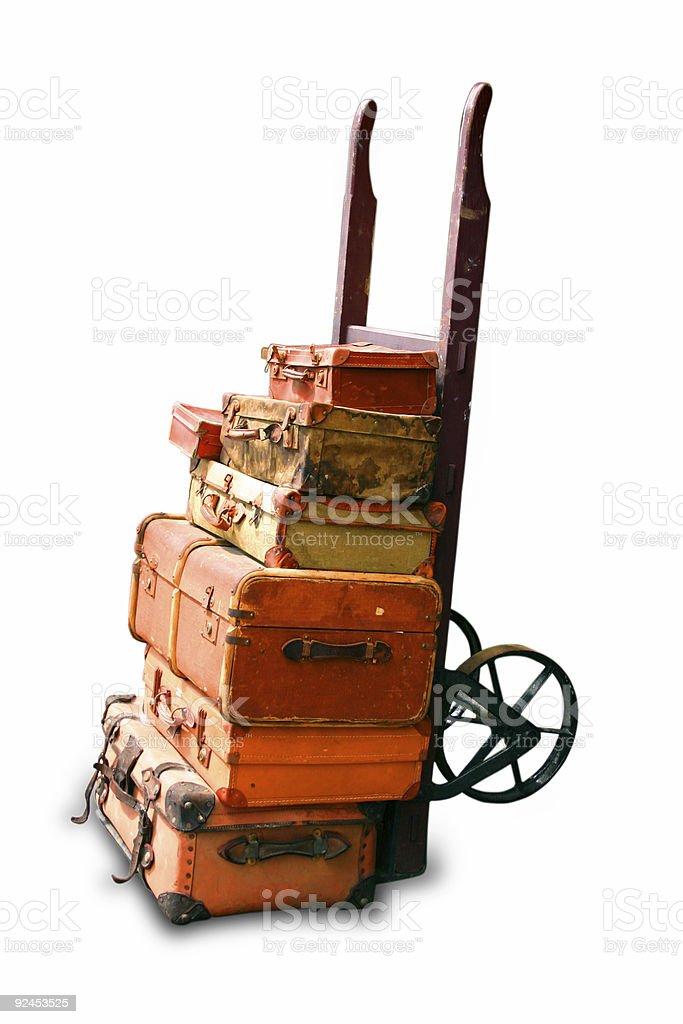 Old luggage royalty-free stock photo