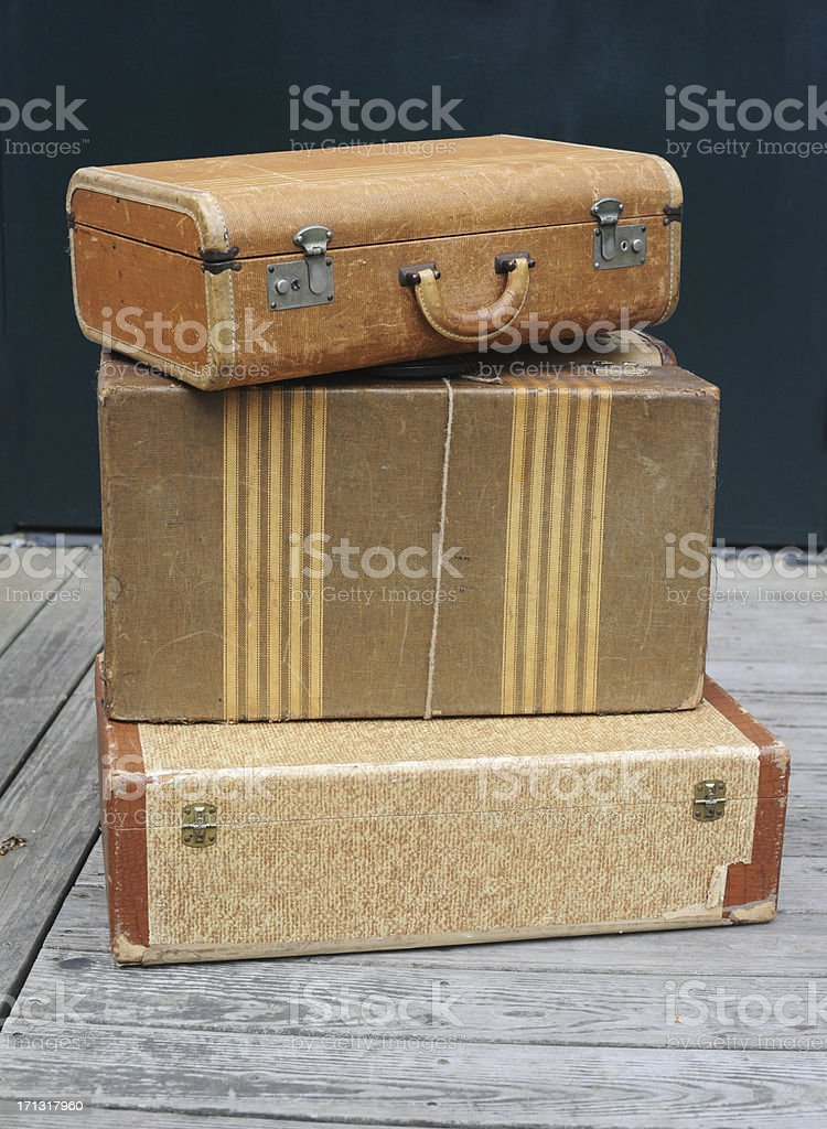 Old Luggage Stacked stock photo